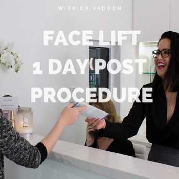 Face Lift Surgery - One Day After Surgery - Medaesthetics